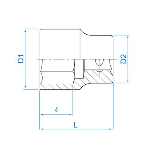 douille 1 2 39 36 mm mm action karting paddock. Black Bedroom Furniture Sets. Home Design Ideas