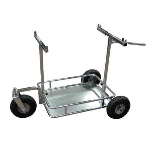 Chariot porte kart roue directionnelle pivotante action karting paddock - Chariot porte roue tracteur ...