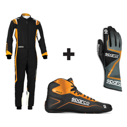 Kit pilote Thunder noir/orange - ENFANT