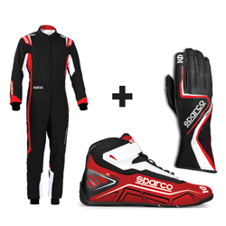 Kit pilote Thunder Plus noir/rouge - ADULTE